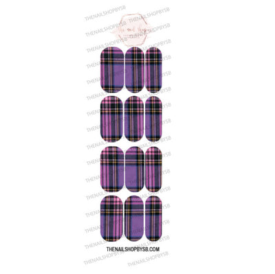 DECAL - PURPLE PLAID