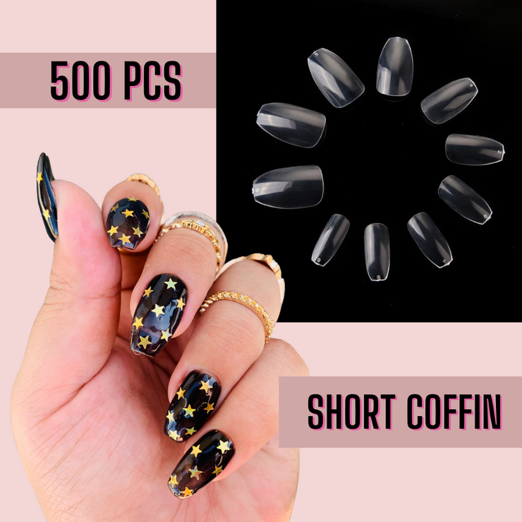 Short Coffin Nail Tips