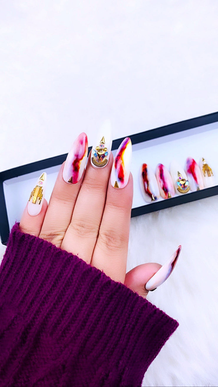 Marble Nails | Colorful Nails | Nude Nails | Gold Nails | Press on Nails | Fake Nails |