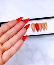 READY TO SHIP| Nude Louboutin Nails| Press On Nails |Red Bottom Nails |Nude Nails | Fake Nails | Beige Nails | Coffin Nails | Stiletto Nails