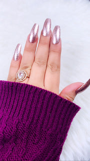 READY TO SHIP| Rose Gold Nail | Press On Nails | Any Shape and Size | Fake Nails | Glitter Nails | Gel Nails | Sparkly Nails |