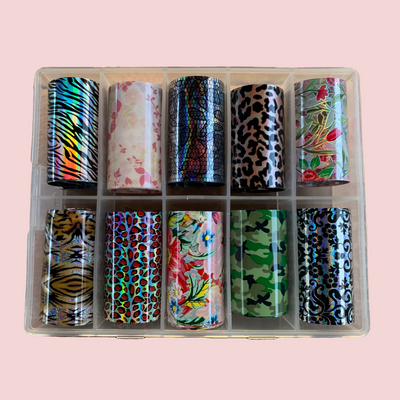 Mixed Prints Nail Foils