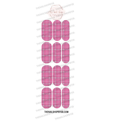 DECAL-PINK PLAID