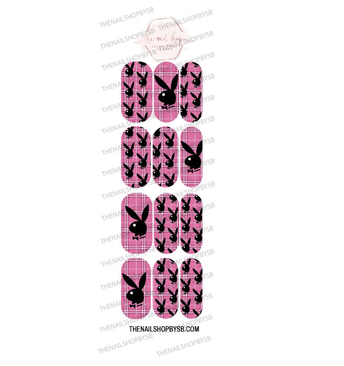 DECAL - BUNNY PINK PLAID