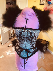 Custom Burlesque Costume with Feathers