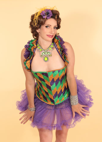 Custom Harlequin Burlesque Costume