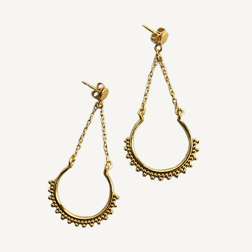 Gold Apollonia Earrings