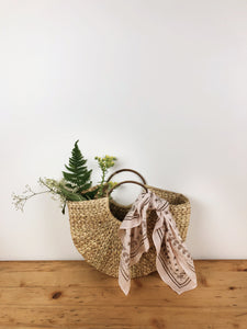 Hoop Handle Seagrass Bag
