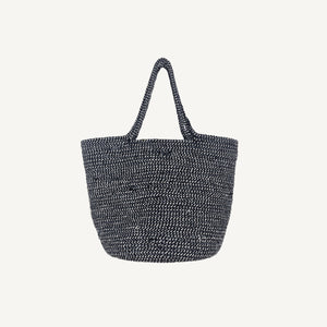 Braided Bucket Bag Grey
