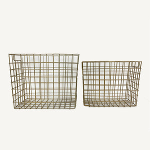 Everyday Storage Basket Gold Wire