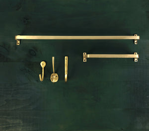 "4"" Brass Wall Hook"