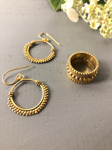 Gold Athena Earrings