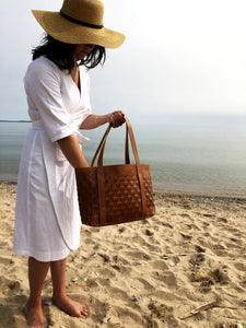 The Woven Leather Bag