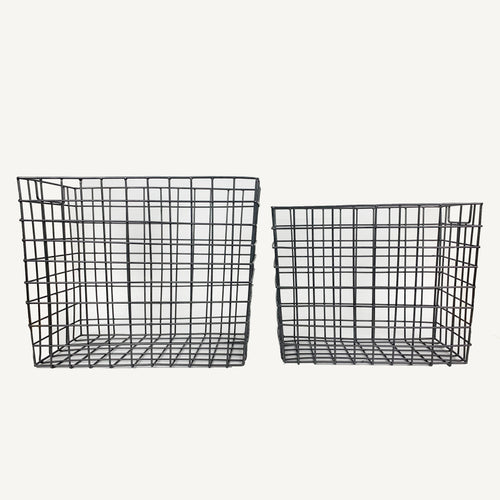 Everyday Storage Basket Set Iron Wire