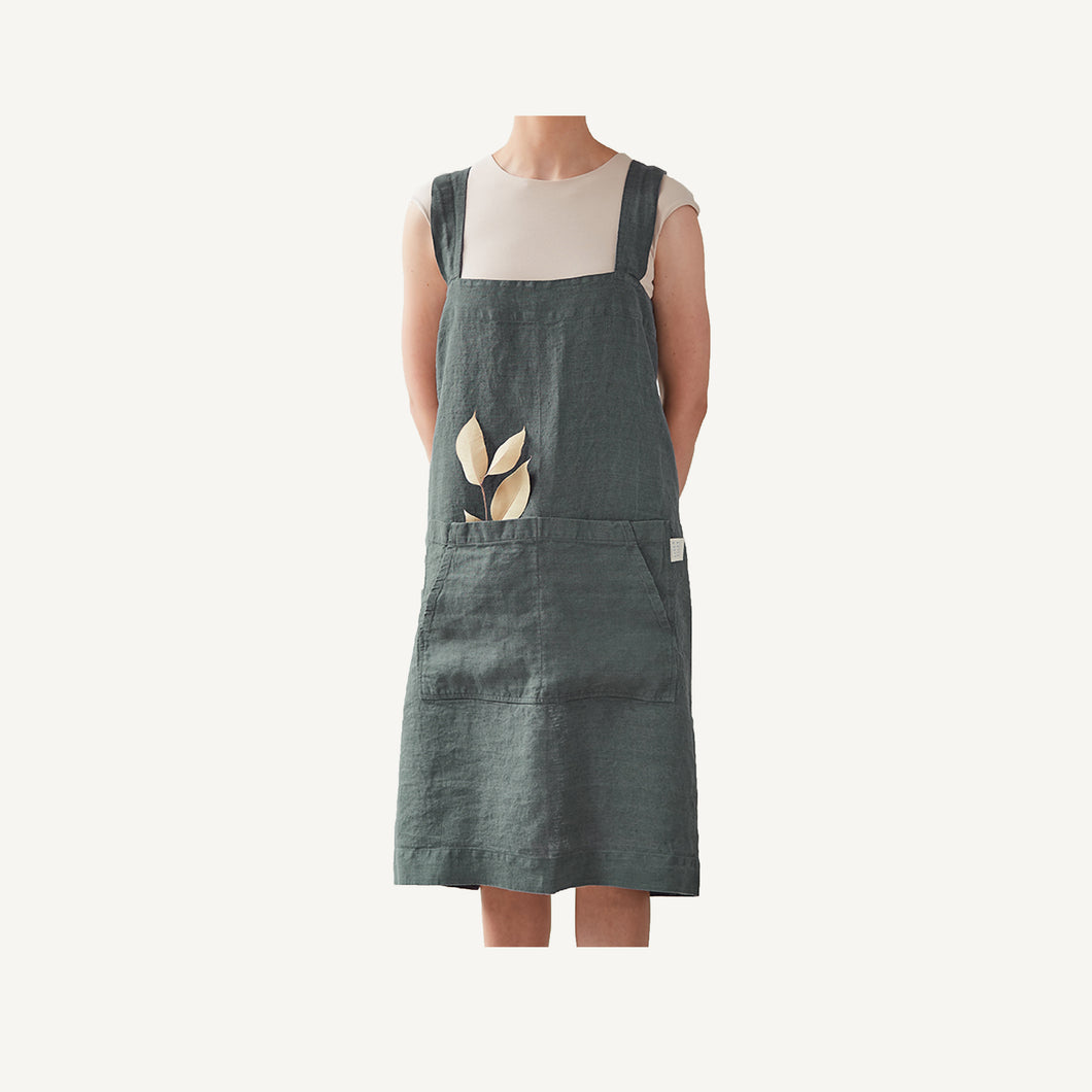 Pinafore Apron Forest Green