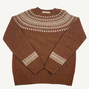 Fair Isle Sweater Sienna & Winter White