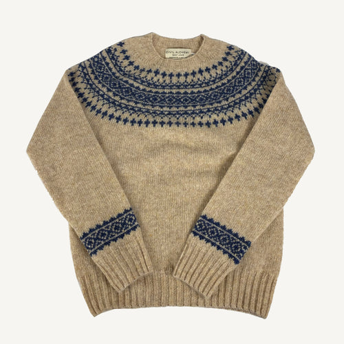 Fair Isle Sweater Tusk & Denim