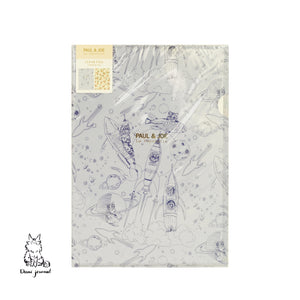 2 Clear Files A4, PAUL & JOE // Cygnes en Fleurs, Space Cat