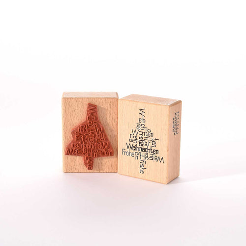 Merry Christmas Rubber Stamp- Heindesign