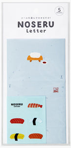 Noseru Letter-Letter with deisgn seal Sushi- 5 sheets
