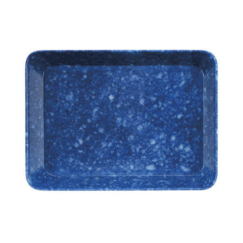 Hightide Marbled Melamine Tray for Storage Blue