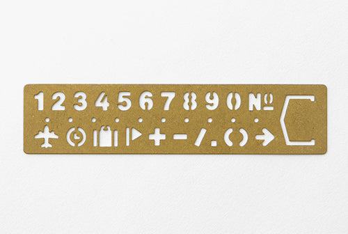 Traveler's Company Brass Bookmark Numbers