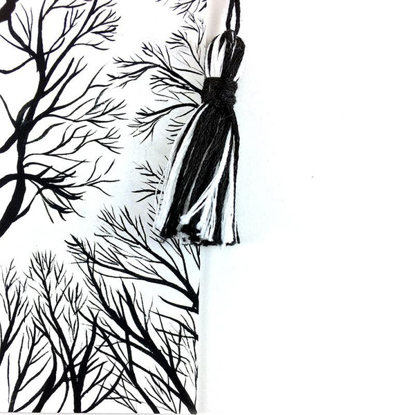 Bare Bones Trees - Watercolor Sky Bookmark