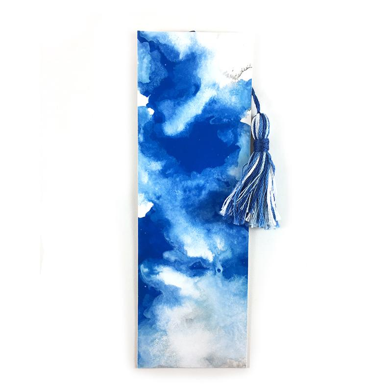 Blue Summer Sky - Watercolor Bookmark