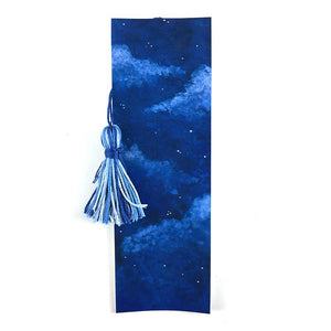 Soft Night Clouds - Watercolor Sky Bookmark