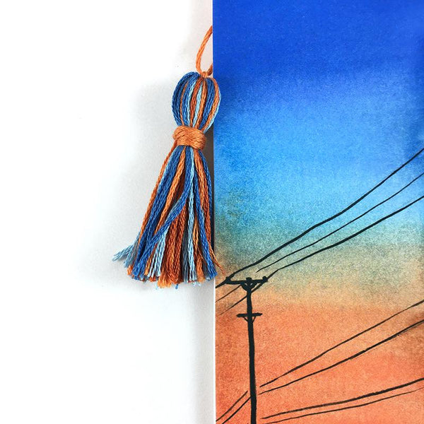 Orange Sunset - Watercolor Sky Bookmark