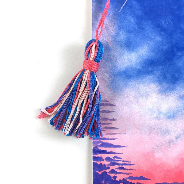 Pink Sunset - Watercolor Sky Bookmark