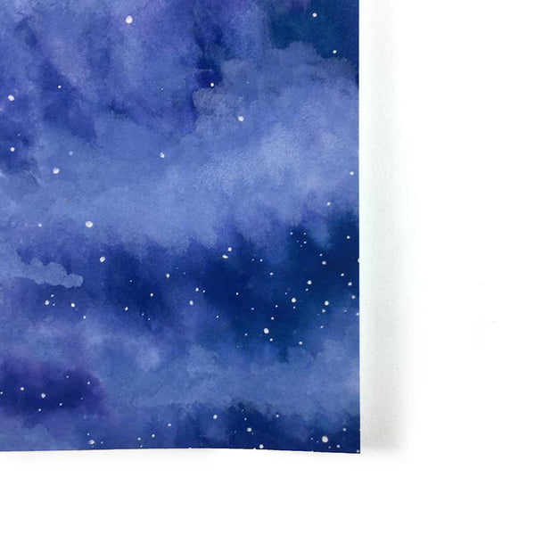 Skies Untold Day 87 - Watercolor Night Sky Art Print