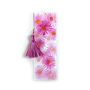 Fall Asters - Watercolor Flower Bookmark