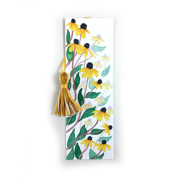 Black Eyed Susans - Watercolor Flower Bookmark