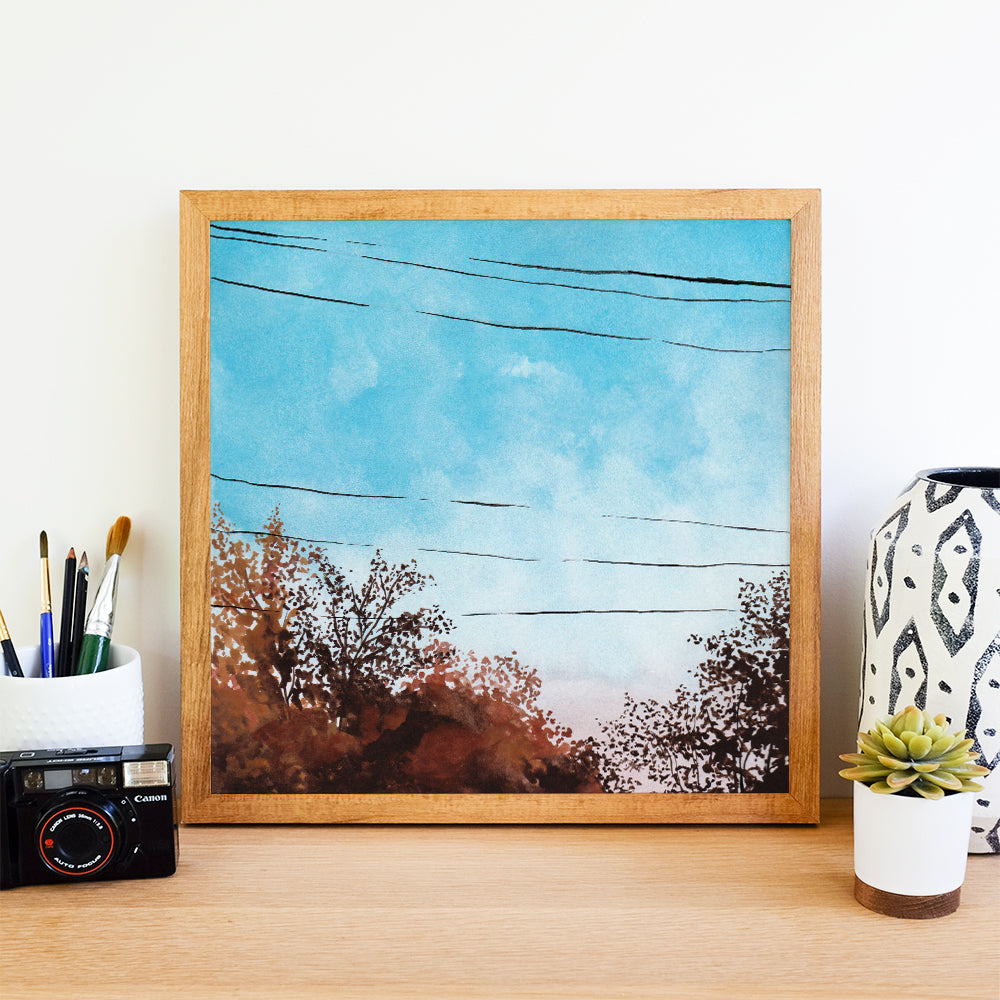 Fall Sky - Watercolor Art Print
