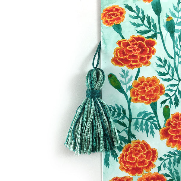 Marigolds - Watercolor Flower Bookmark