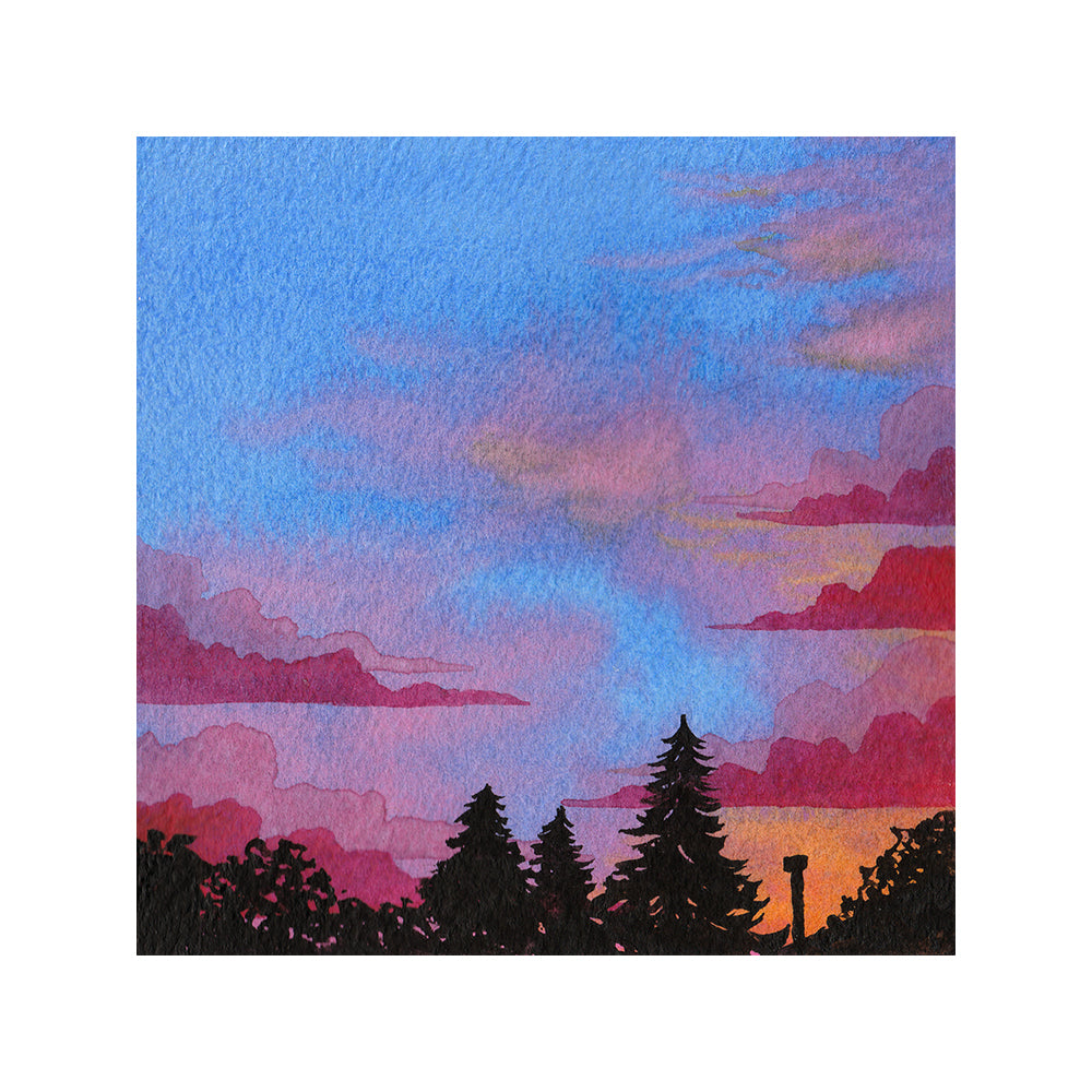 Multicolor Sunset - Watercolor Sky Art Print