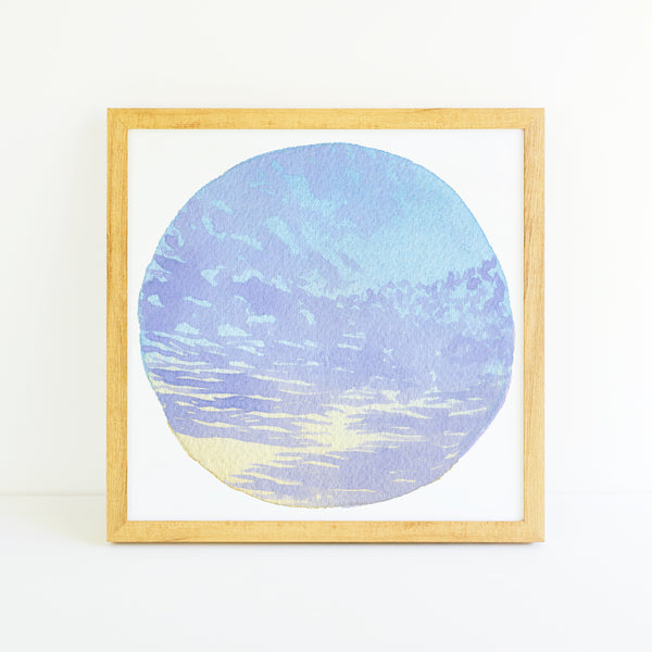 Pastel Cloudscape - Watercolor Sky Art Print