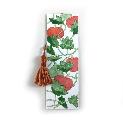 Pumpkin Vines - Fall Watercolor Bookmark