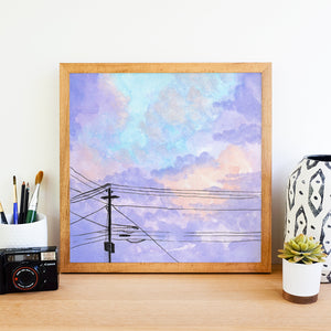 Skies Untold Day 167 - Watercolor Art Print