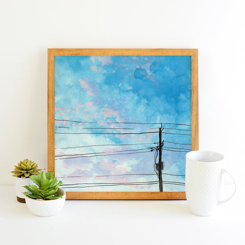 Skies Untold Day 185 - Watercolor Art Print