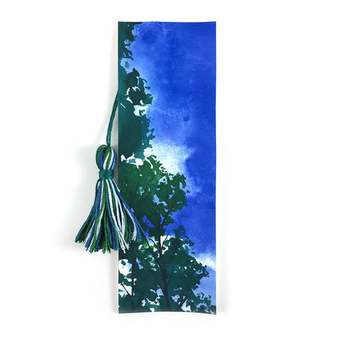 Summer Trees - Watercolor Sky Bookmark
