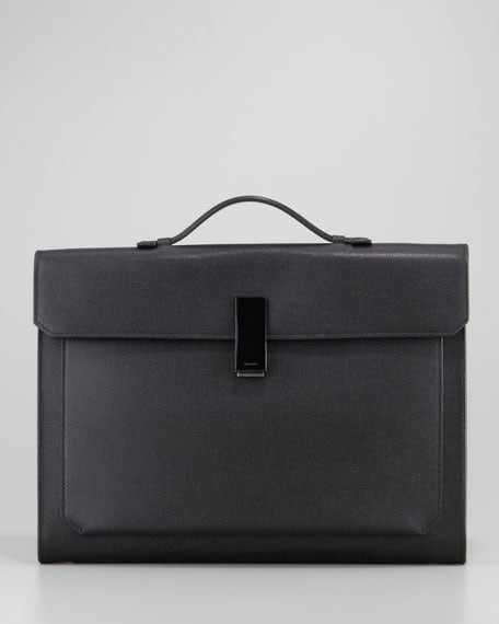 TOM FORD Small Briefcase with Horn Closure