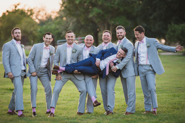 Groomsmen and wedding socks