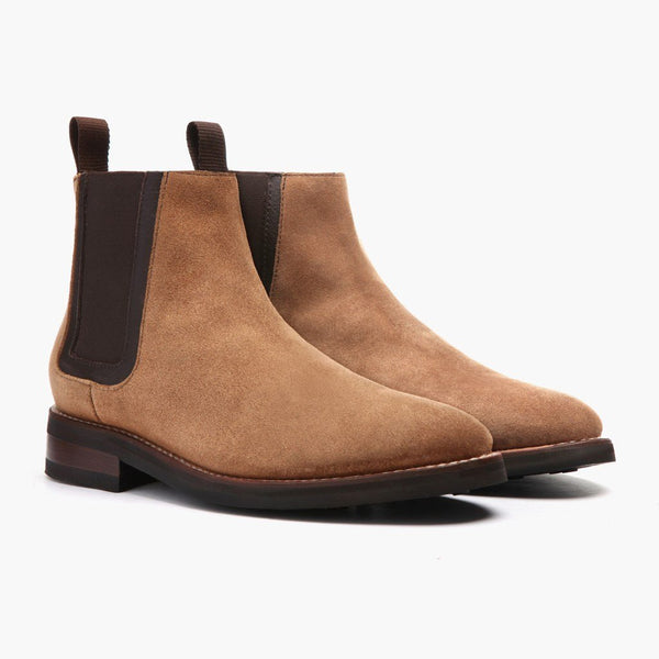 Honey Suede Chelsea Boots Brown