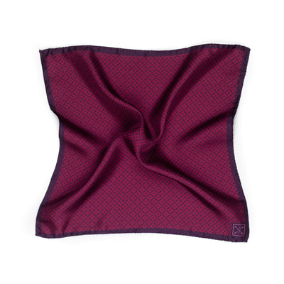 Burgundy and Red Floral Pocket Square
