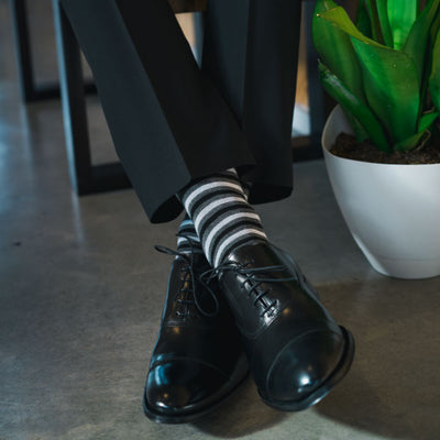Striped black socks
