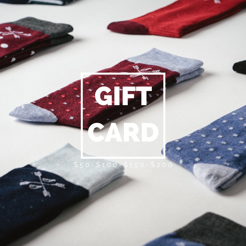 men's socks gift card