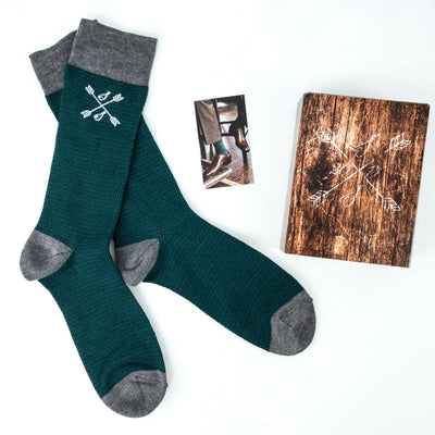 Green mens dress socks