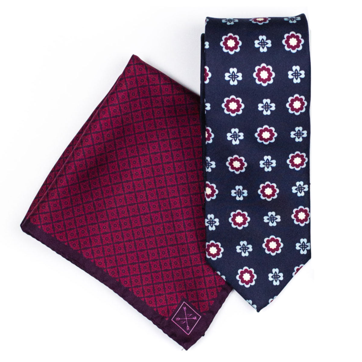 Red & Blue Perfect Pairing | A Complementary Tie & Pocket Square
